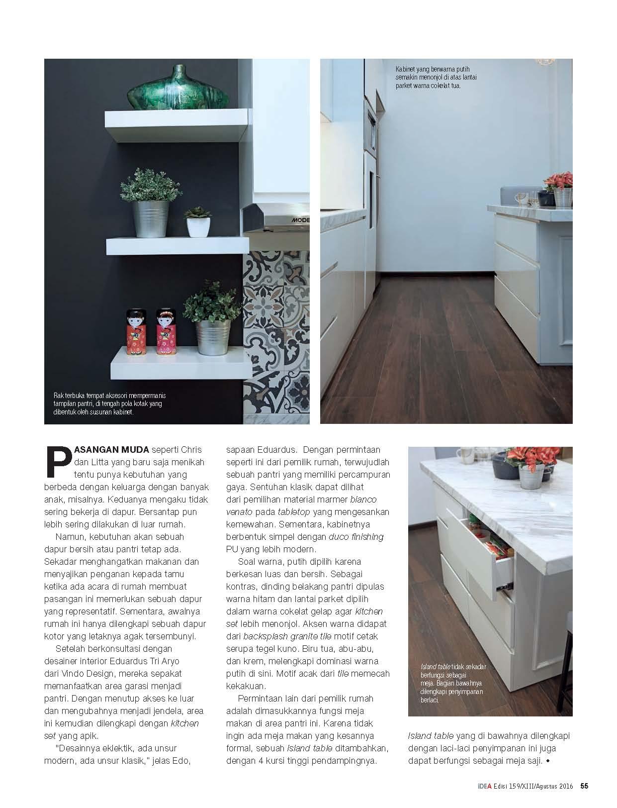 Simple Elegant Kitchen in iDEA Magazine